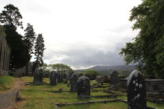 Ancient Graveyard Ruins Stock Photo