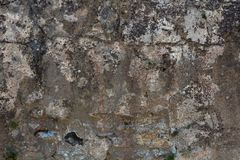 Ancient gray concrete wall, texture stock photo