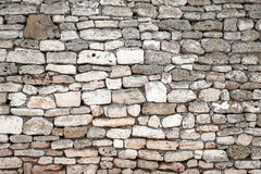 Ancient gray stone wall, background texture Stock Photos