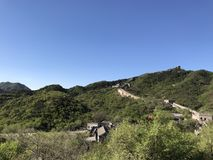 The Ancient Great Wall in Beijing Badaling. China royalty free stock image