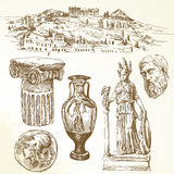 Ancient greece. Hand drawn collection - ancient greece vector illustration