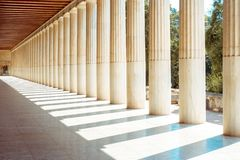 The ancient Greece colonnades. royalty free stock photography