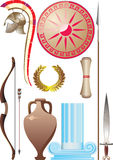 Ancient Greece set. Vector and raster illustration Stock Photos
