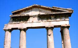 Ancient Greece temple - Athens Royalty Free Stock Photography