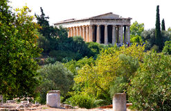 Ancient Greece temple - Athens Royalty Free Stock Photo