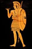 Ancient greece Warrior. Historical costume - ancient greece Warrior stylized classical Greek painting 5th century BC vector illustration