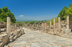 Ancient greek alley with columns Stock Images