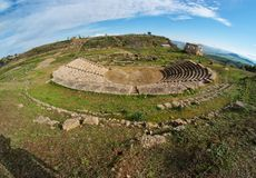 Ancient Greek amfitheater fisheye view Royalty Free Stock Images