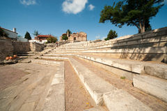The ancient Greek amphitheater in Nessebar Royalty Free Stock Image