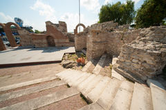 Ancient Greek amphitheater in Nessebar in Bulgaria Royalty Free Stock Image