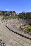 The ancient Greek amphitheater in Ohrid Royalty Free Stock Photography