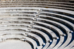Ancient Greek Amphitheatre. Old curved stairs of ancient greek amphitheatre Stock Photos