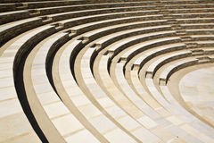 Ancient Greek Amphitheatre, Greece. Greek Amphitheatre on the island of Ios, Cyclades, Greece Stock Images
