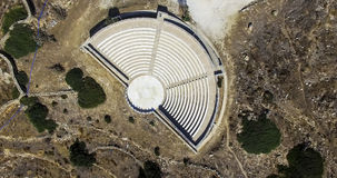 Ancient Greek Amphitheatre in Ios Island, Greece. Stock Photography