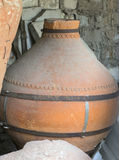 Ancient greek amphoras Stock Photos