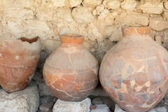Ancient greek amphoras Royalty Free Stock Images
