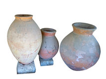 Ancient greek amphoras Stock Image