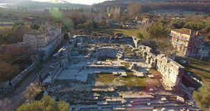 Ancient Greek and Ancient Roman Ruins in Turkey stock video footage