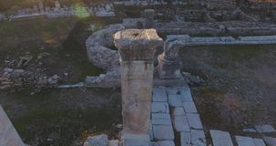 Ancient Greek and Ancient Roman Ruins in Turkey stock video