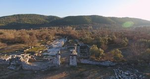 Ancient Greek and Ancient Roman Ruins in Turkey stock footage