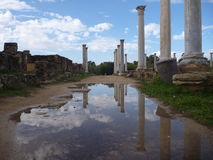 Ancient greek archeological site salamis. In cyprus Royalty Free Stock Photos