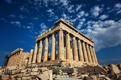 Ancient Greek architecture - Parthenon Royalty Free Stock Images
