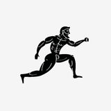 Ancient greek athletic runner Stock Photography