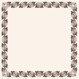 Ancient Greek background. Ancient Greek papyrus with a national ornament. Old beige paper and frame Stock Photography