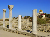 Ancient Greek Basilica at Chersonesus Taurica, Sevastopol, Crime Stock Photos