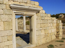 Ancient Greek Basilica at Chersonesus Taurica, Sevastopol, Crime Stock Images