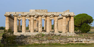 Ancient greek Basilica Temple Stock Photos