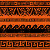 Ancient Greek border ornaments, meanders Stock Image