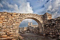 Ancient Greek city of Chersonese Royalty Free Stock Photo