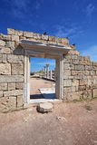 Ancient greek city Chersonese. Sevastopol. Crimea. Royalty Free Stock Photos
