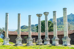 Ancient Greek City Lydia Roman Empire Sardes Sardis. It is in the middle of Hermus Valley in Turkey. Sardis was the Capital of the ancient Kingtom of Lydia an royalty free stock image
