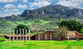 Ancient Greek City Lydia Roman Empire Sardes Sardis. It is in the middle of Hermus Valley in Turkey. Sardis was the Capital of the ancient Kingtom of Lydia an stock photos