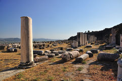 Ancient Greek City of Pergamon in Bergama, Turkey Stock Images