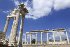 Ancient Greek City of Pergamon in Bergama, Turkey Stock Images