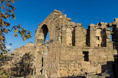 Ancient greek city ruins in Side, Turkey Royalty Free Stock Photography