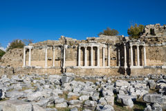Ancient greek city ruins in Side, Turkey Stock Photos