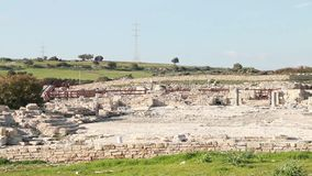 Ancient Greek City-State on the East Coast of Cyprus, Antique Ruins stock video footage