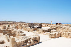 Ancient greek civilisation. Ancient greek/cypriot civilisation in cyprus by the sea Royalty Free Stock Photo