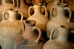 Ancient Greek clay amphora Royalty Free Stock Photos