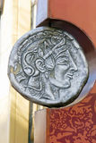 Ancient greek coin Royalty Free Stock Photography