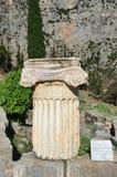 The ancient Greek column in Delphi, Greece Stock Image