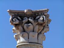 Ancient greek column's capital. Kos Greece Royalty Free Stock Photography