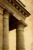 Ancient greek columns. Antique ancient greek style columns royalty free stock photography