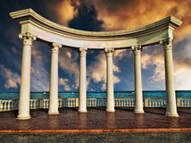 Ancient Greek columns Royalty Free Stock Images