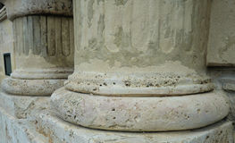 Ancient Greek columns in Athens. Greek columns on the Acropolis in Athens, Greece Stock Photo