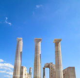 Ancient Greek Columns Stock Photo